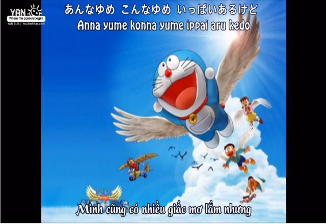Học từ vựng tiếng Nhật qua bài hát Doraemon