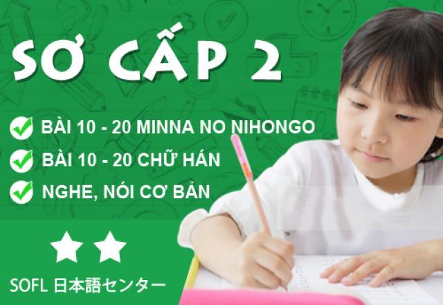 Khóa học tiếng Nhật sơ cấp 2 tháng 10/2016