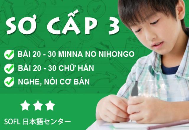 Khóa học tiếng Nhật sơ cấp 3 tháng 11/2016
