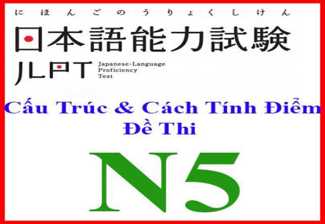Những nét cơ bản của cấu trúc đề thi tiếng Nhật N5