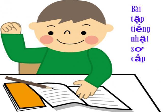 Bài tập tiếng Nhật sơ cấp kèm đáp án và giải thích chi tiết