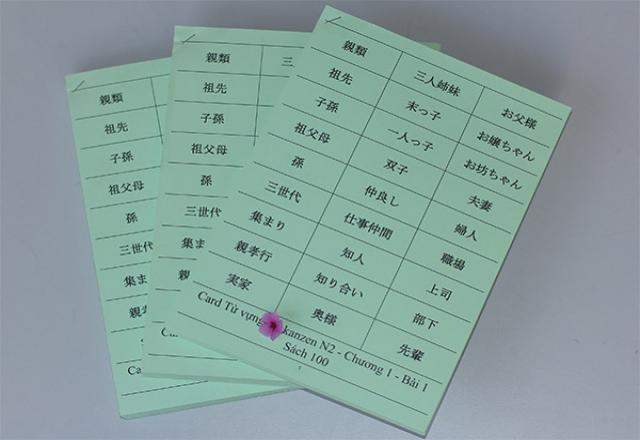 Tổng hợp 100 từ vựng Kanji tiếng Nhật trình độ N2